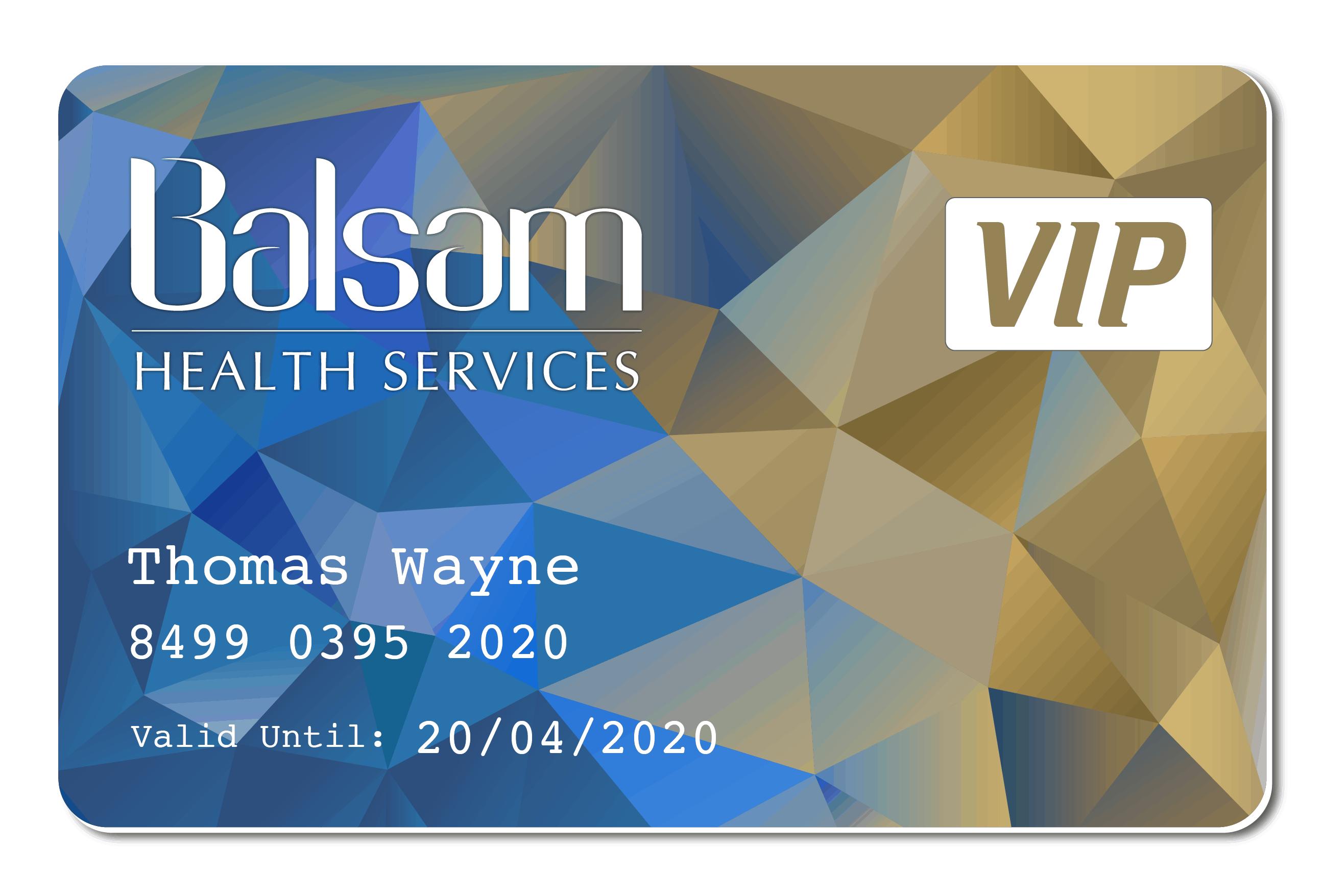 Balsam VIP Member Card